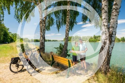 Rast am Rheinufer