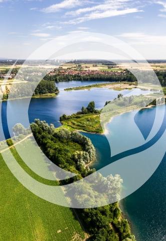 Luftaufnahme Altrheintal