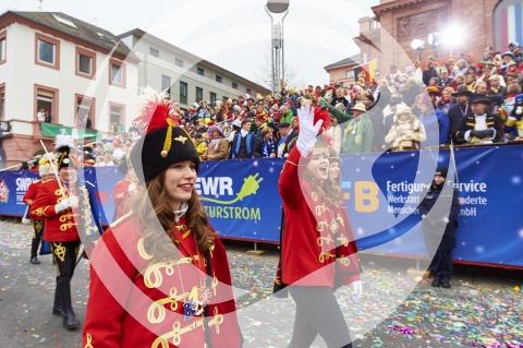Teilnehmer am Rosenmontagsumzug Mainz