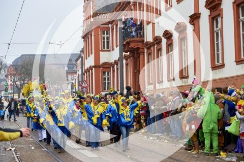 Fußgruppen am Rosenmontagsumzug Mainz