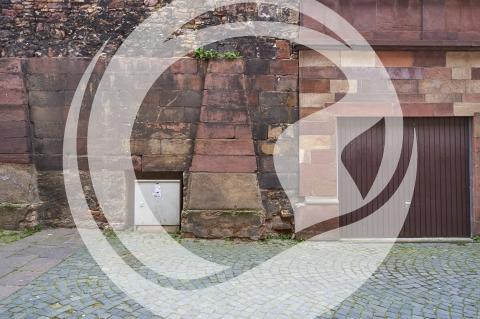 Mauerwerkdetails am Wormser Dom
