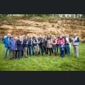 Gruppenfoto Pflanzung im Majestätenweinberg 2017