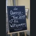 Begrüßungsschild Queenie Tour