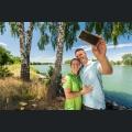 Selfie am Rheinufer