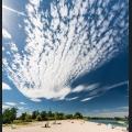 Wolken über dem Strandbad Altrheinsee