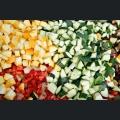 Mix aus rohem Grillgemüse