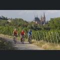 Radweg mit Blick auf die Katharinenkirche