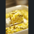 Tortilla mit grünem Spargel und Lauch