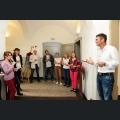 Die Kandidatinnen bei Frank Hemmes in der Weinschule Hemmes in Bingen