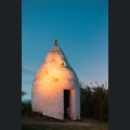 Trullo in Flammen