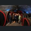 Weinmajestaeten mit den Gastgebern Josef und Ute Voelker