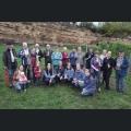 Gruppenfoto bei Lese im Majestätenweinberg