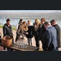 Besuch Deutscher Weinmajestäten am Roten Hang