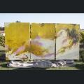 Gemälde im Garten des Weinguts Dr. Eva Vollmer
